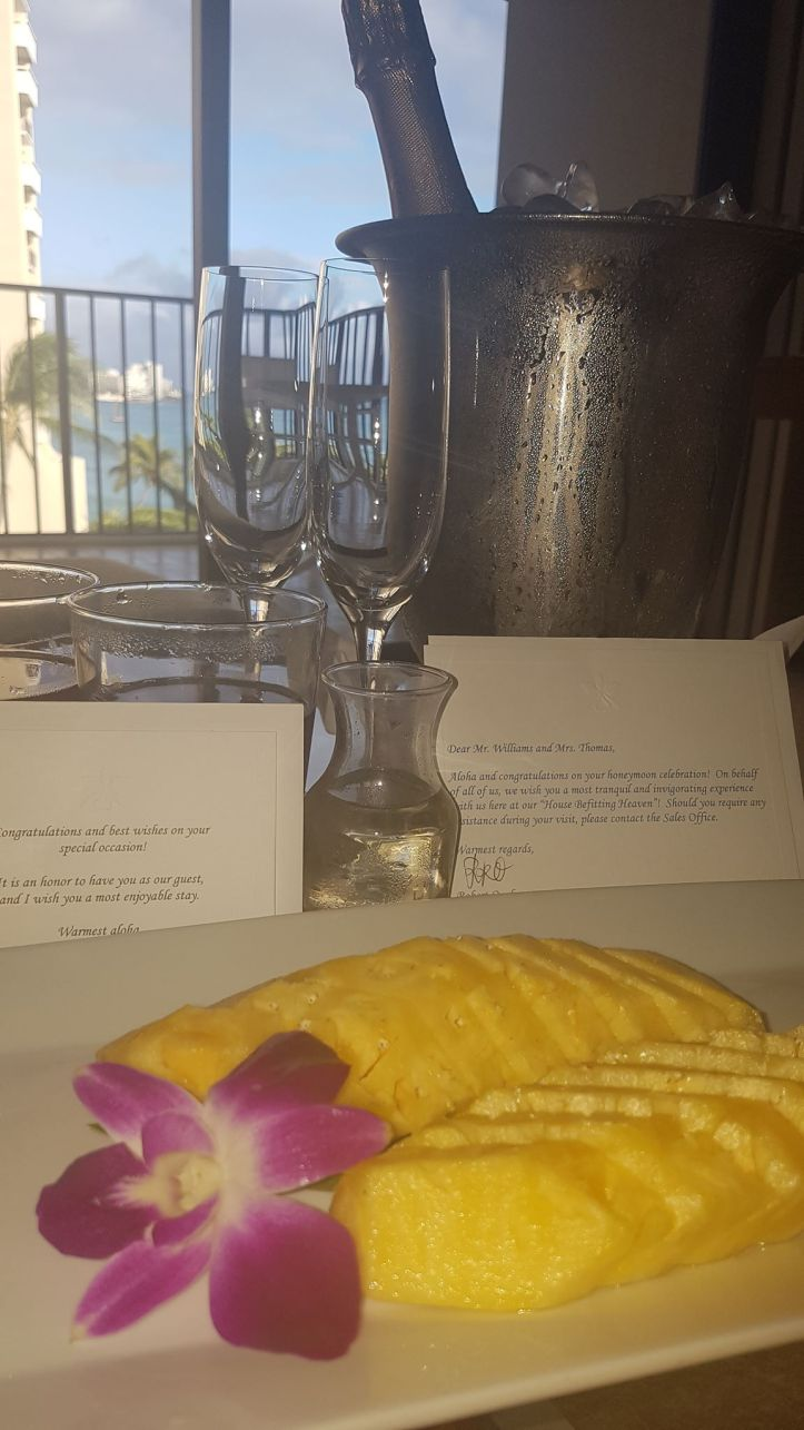 Welcome gifts and letters